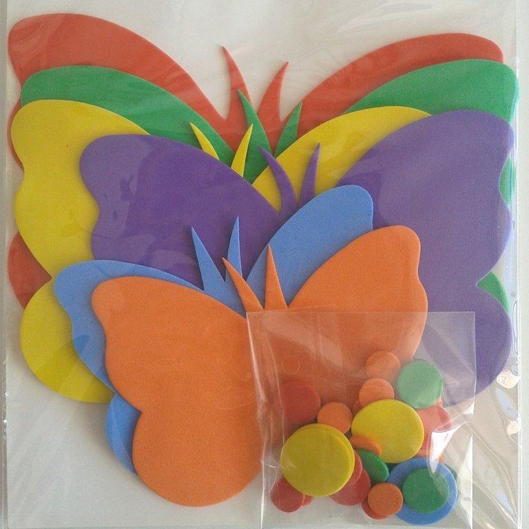 Set de mariposas de goma eva de colores - Arte y Manualidades en ...