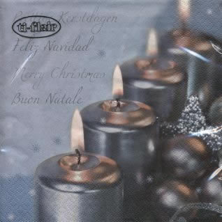 Silvery candles