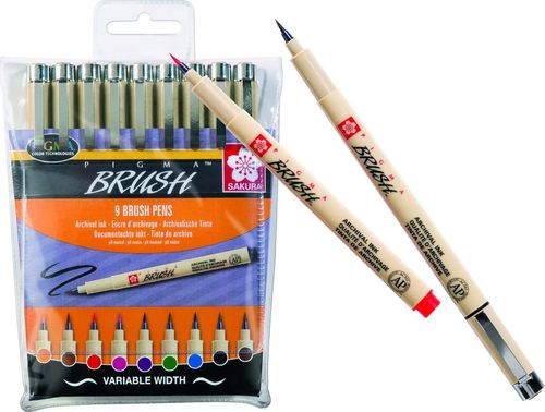 Set Pigma brush 9